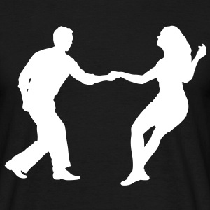 Swing dancers bk - Men's T-Shirt