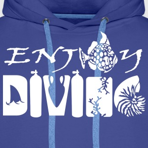 Enjoy Diving Sweat-shirts - Sweat-shirt à capuche Premium pour hommes
