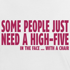 some people need a high five in the face II Camisetas - Camiseta contraste mujer