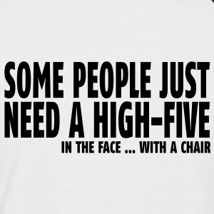 some people need a high five in the face II Tee shirts - T-shirt baseball manches courtes Homme