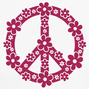 PEACE SYMBOL - fredssymbol, c, symbol of freedom, flower power, hippie, 68er movement, Woodstock Børne T-shirts - Organic damer