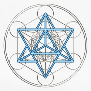 Star Tetrahedron - Merkaba, DD, silver blue,  Flower of Life, Sacred geometry, Platonic Solids T-Shirts - Women's Organic T-shirt