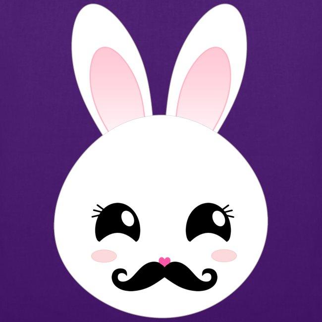 Beauty Bunny Moustache Bart Schnurrbart Hase Tasche Beutel