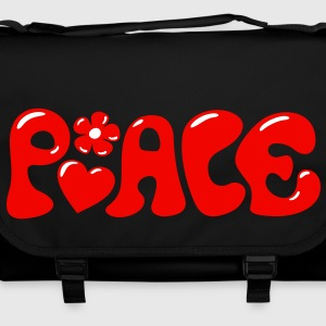 3-D Peace. Heart and flower - Love & Happiness Bolsas - Bolso de bandolera