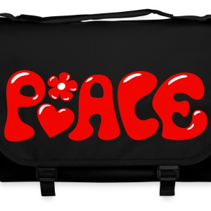 3-D Peace. Heart and flower - Love & Happiness Bags  - Shoulder Bag