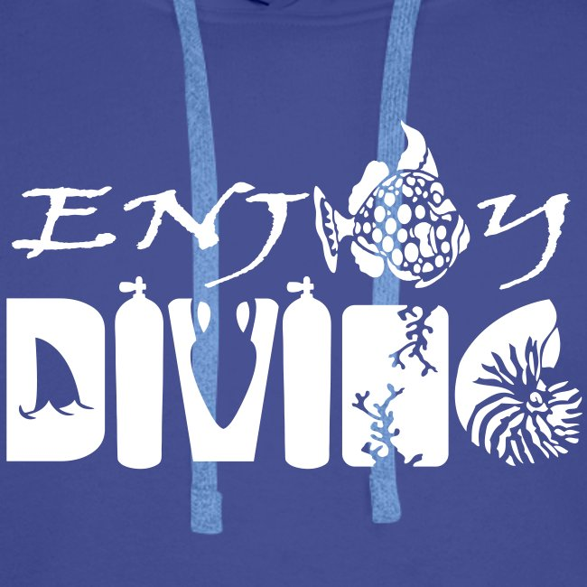 Enjoy Diving-Sweat Hom-Flocage