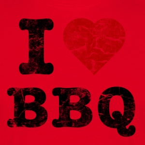 I Love BBQ vintage dark T-Shirts - Men's T-Shirt