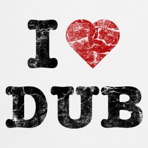 I Love DUB vintage dark  Aprons - Cooking Apron