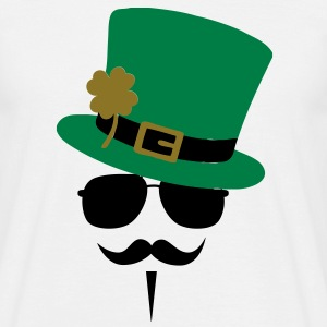 Go Green Moustache T-shirts - Mannen T-shirt