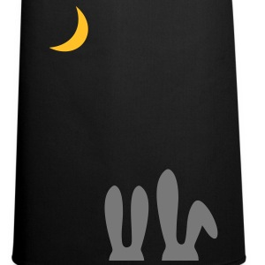 Rabbit love. Enamoured hare observe the moon.  Aprons - Cooking Apron