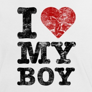 I Love my Boy vintage dark T-Shirts - Women's Ringer T-Shirt