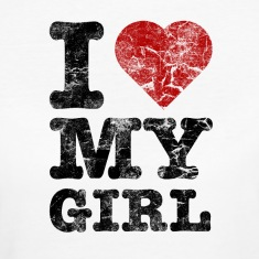 """I Love my Girl"" vintage dark Camisetas"