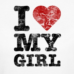 I Love my Girl vintage dark T-shirts - Organic damer