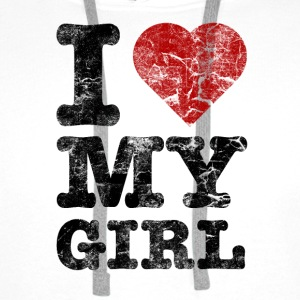 I Love my Girl vintage dark Hoodies & Sweatshirts - Men's Premium Hoodie