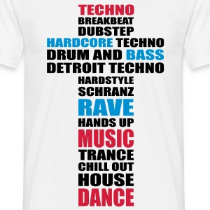 Techno Electro Party Style T-Shirts Raver Outfit - Männer T-Shirt
