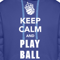Zoom: Men's Premium Hoodie with design Keep Calm and Play Basketball