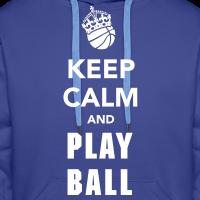 Zoom: Männer Premium Hoodie mit Motiv Keep Calm and Play Basketball