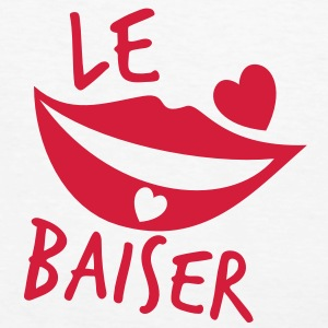 le baiser french for the kiss T-Shirts - Women's Organic T-shirt