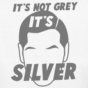 IT's not GREY it's SILVER Fox male man dad T-Shirts - Women's Organic T-shirt