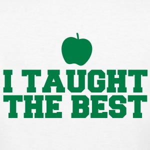 I TAUGHT THE BEST! with green apple T-Shirts - Women's Organic T-shirt