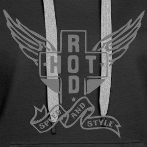 Hot Rod - speed and style Sweat-shirts - Sweat-shirt à capuche Premium pour femmes