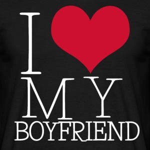 i love my boy T-shirts - Herre-T-shirt