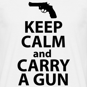 Keep Calm Get a Gun Tee shirts - Men's T-Shirt