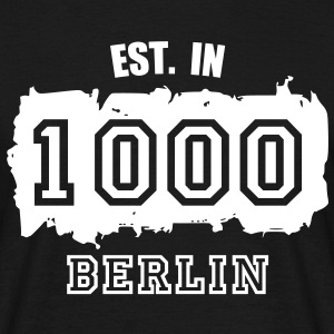 Established 1000 Berlin T-Shirts - Männer T-Shirt