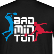 Motif ~ Tee-Shirt Badminton