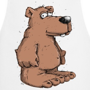 Funny brown bear  Aprons - Cooking Apron