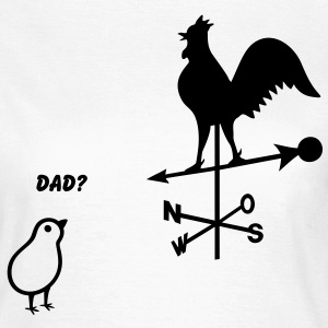 Faderskabstest. Chick med hane. Rooster Chicken T-shirts - Dame-T-shirt