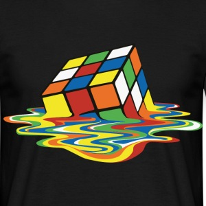 Melting Rubiks Cube - Men's T-Shirt