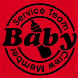 Service Team Baby  Crew Member. 24 timmar catering T-shirts - T-shirt herr