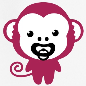 a monkey with soother Bluzy - Bluza dziecięca z kapturem Premium