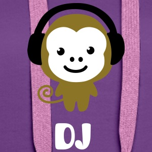 monkey_earphones Sweat-shirts - Sweat-shirt à capuche Premium pour femmes