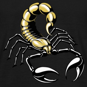 scorpion - or - jaune - T-shirt Homme