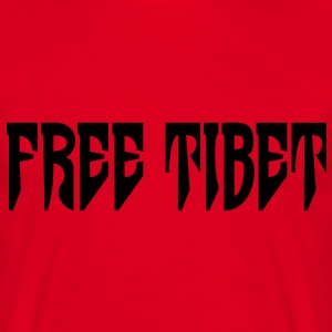Free Tibet. International Independence Movement T-skjorter - T-skjorte for menn