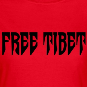 Free Tibet. International Independence Movement Camisetas - Camiseta mujer