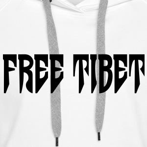 Free Tibet. International Independence Movement Hoodies & Sweatshirts - Women's Premium Hoodie