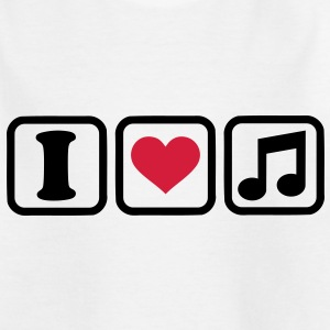 I love music T-Shirts - Kinder T-Shirt