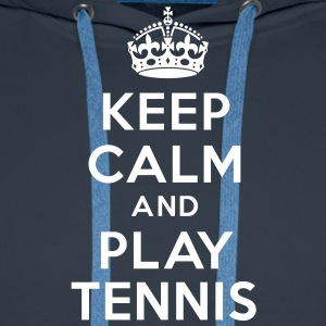 keep calm and play tennis Sweat-shirts - Sweat-shirt à capuche Premium pour hommes