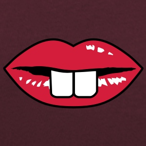 Buck teeth and red lips T-Shirts - Women's Scoop Neck T-Shirt