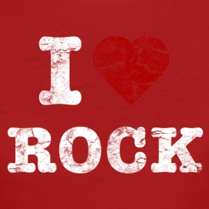 I Love Rock vintage light Tee shirts - T-shirt Bio Femme