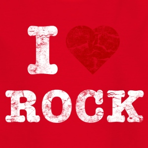 I Love Rock vintage light T-shirts - Børne-T-shirt