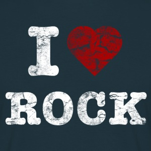 I Love Rock vintage light Tee shirts - T-shirt Homme