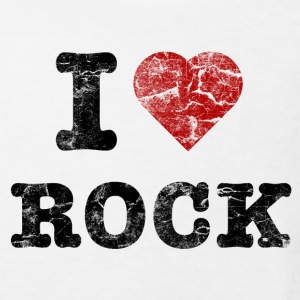 I Love Rock vintage dark T-shirts - Organic børne shirt
