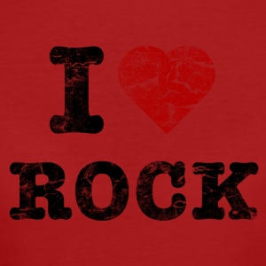 I Love Rock vintage dark T-shirts - Vrouwen Bio-T-shirt