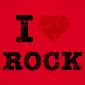 I Love Rock vintage dark T-shirts - T-shirt herr