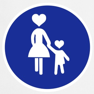 Traffic sign pedestrian woman with child 2 c.  Aprons - Cooking Apron