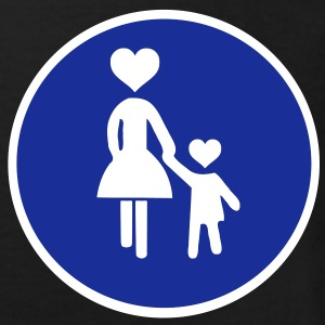 Traffic sign pedestrian woman with child 2 c. Shirts - Kids' Organic T-shirt